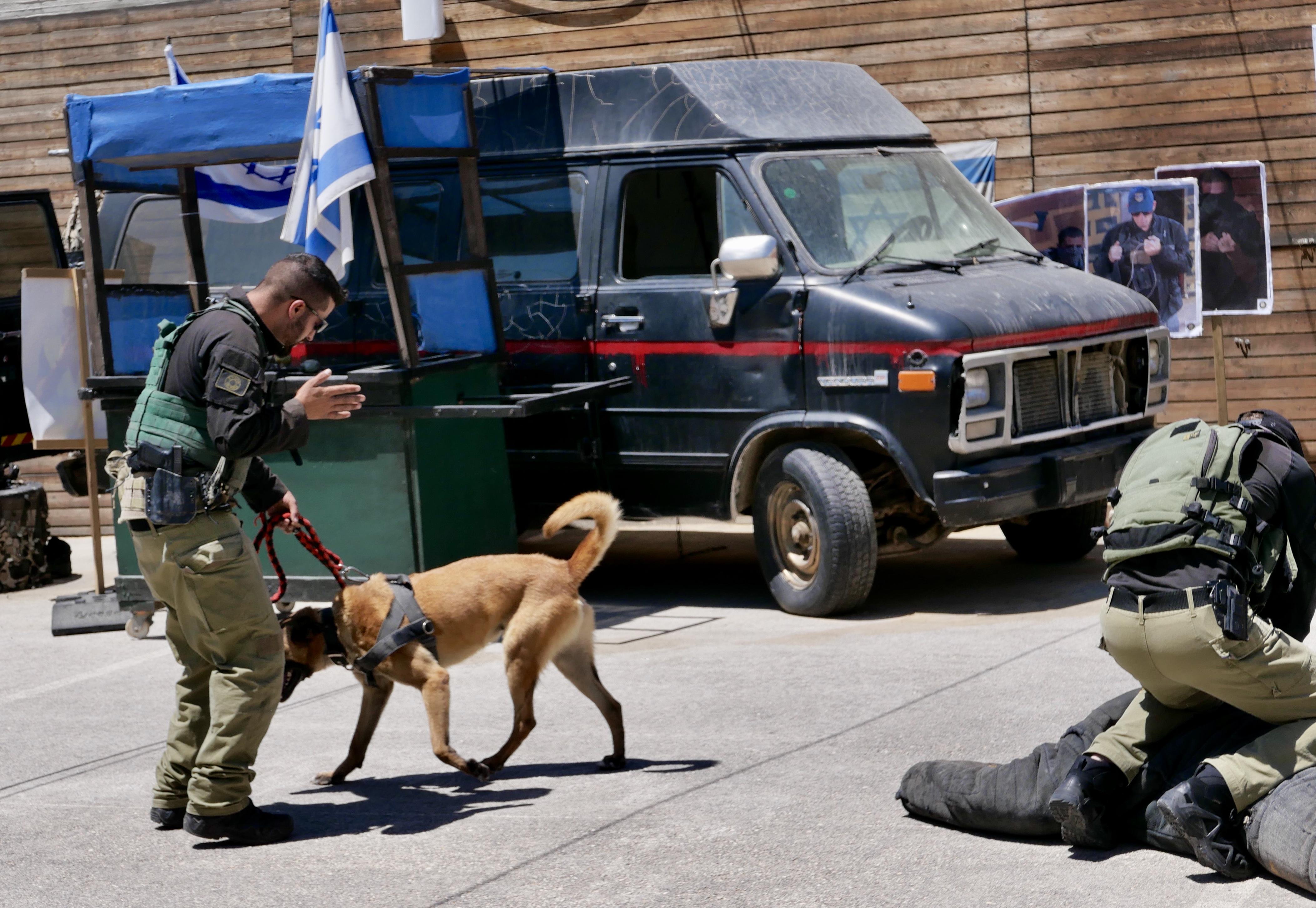 Life-Vorführung von IDF-Anti-Terror-Einheit