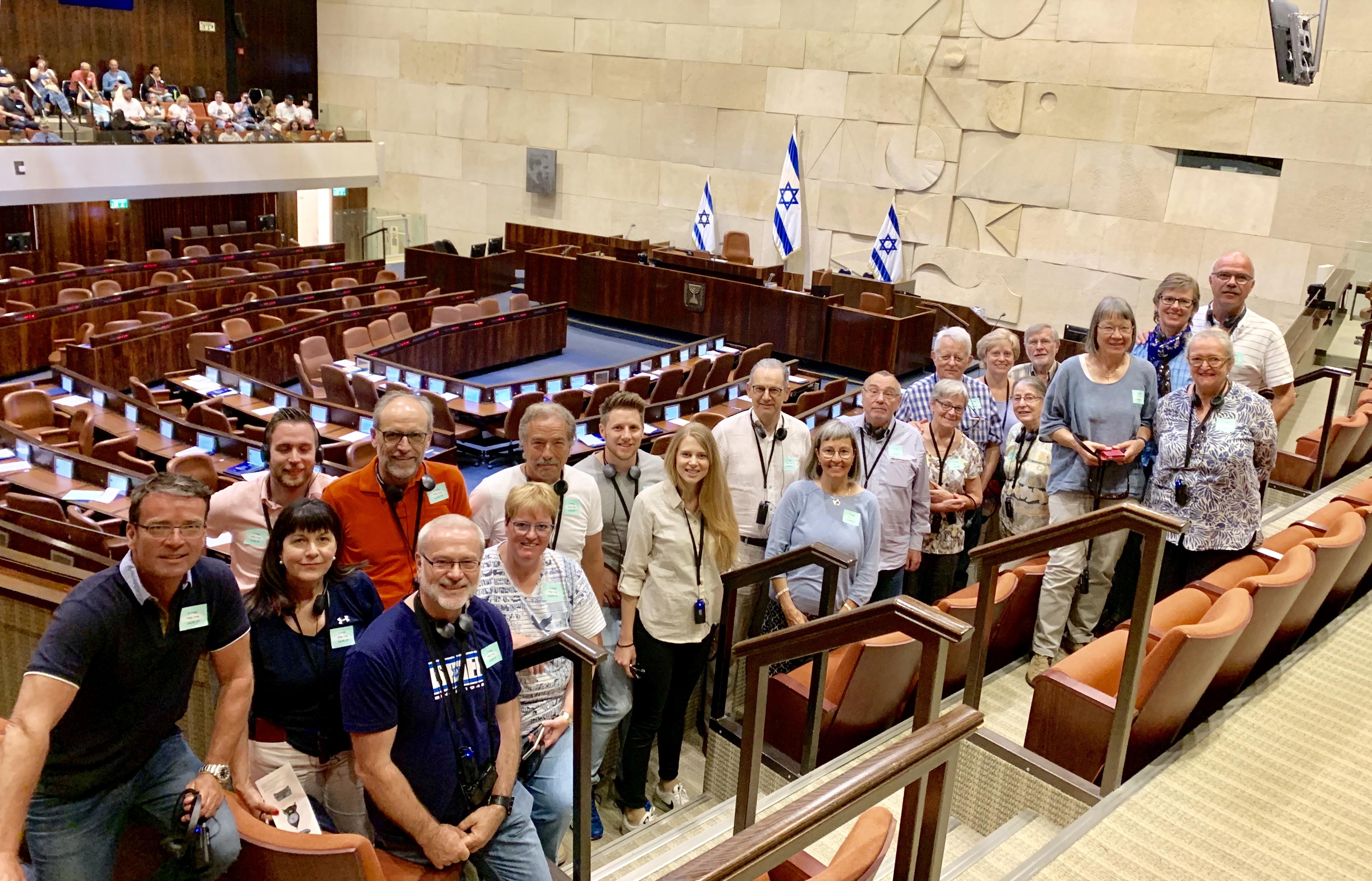 Besuch beim israelischen Parlament, der Knesset